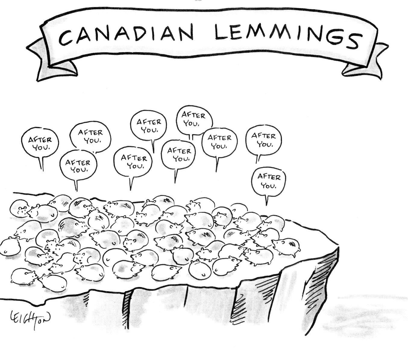 Сanadian lemmings