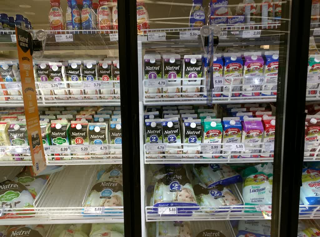 Milk fridge