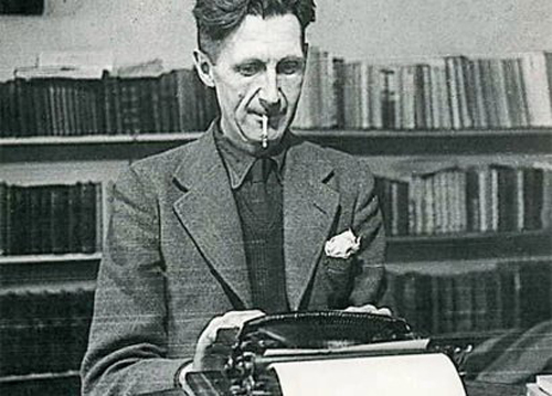 Orwell at typewriter