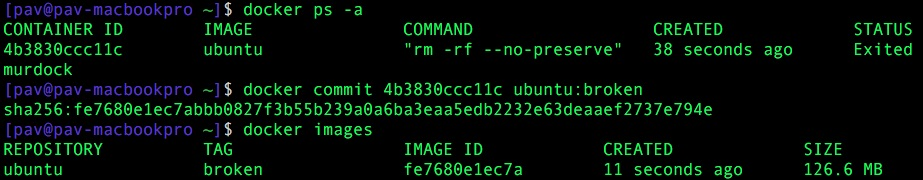 Docker: ubuntu:broken
