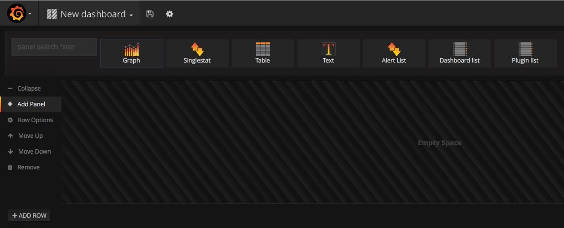 Grafana: добавить панель