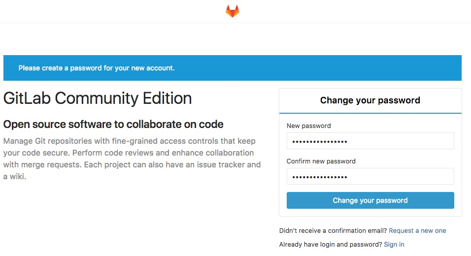 Create root password