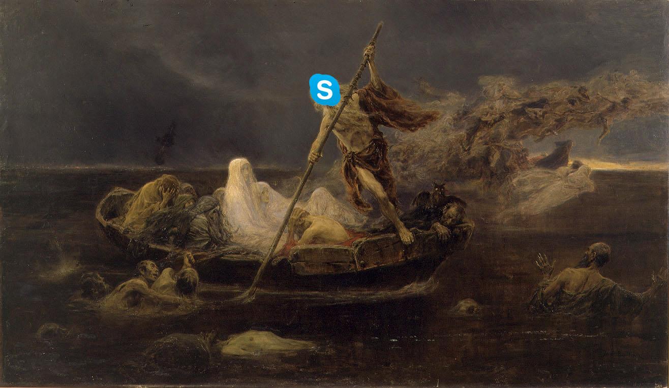 """José Benlliure y Gil """"La Barca de Caronte"""""""